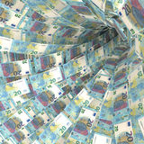Money vortex of twenty euro bills Royalty Free Stock Images