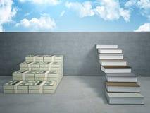 Money vs book Royalty Free Stock Photo