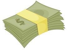 Money wad Royalty Free Stock Photos