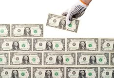 Money wall Royalty Free Stock Photos