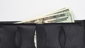 Money in Wallet. Leather wallet with money in it Stock Photo