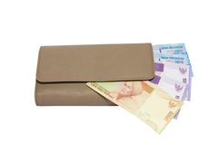 Money in a wallet. Royalty Free Stock Images