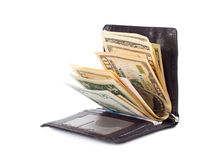 Money in a wallet Royalty Free Stock Images