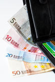 Money in wallet Royalty Free Stock Photos