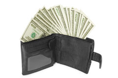Money with wallet Royalty Free Stock Photos