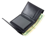 Money in Wallet. US dollar money in wallet, isolated in white white background stock photos