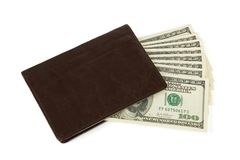 Money and wallet Stock Image