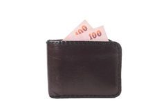 Money of wallet. Isolate on white background Stock Image