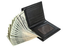 Money in wallet Royalty Free Stock Photo