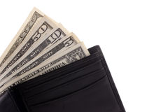 Money in wallet Stock Photos