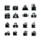 Money in Wallet and Status icon Royalty Free Stock Photos
