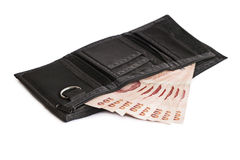 Money in a wallet Royalty Free Stock Photo