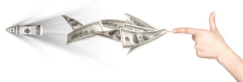 Money war concept  Royalty Free Stock Photography