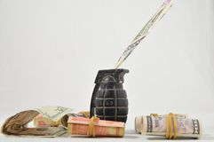 Money for War Concept Royalty Free Stock Images