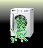 Money washing machine Stock Photography