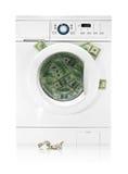 Money in washing machine Royalty Free Stock Photo
