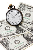 Money and watch Stock Photo