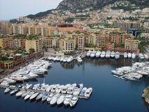 Money in the Water. Boats in the harbour in Monte Carlo Stock Images