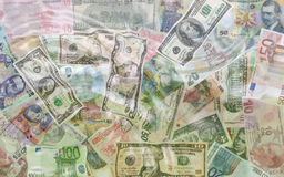 Money in water Royalty Free Stock Images