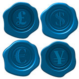 Money wax seal Royalty Free Stock Image