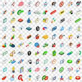 100 money wealth icons set, isometric 3d style Stock Photography