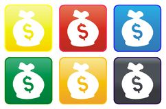 Money web button Stock Photos