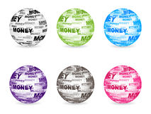 Money web buttons. Different colors  illustration Royalty Free Stock Image