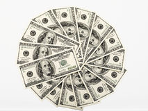 Money wheel Stock Photography