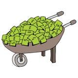 Money Wheelbarrow. An image of a money wheelbarrow Stock Photos