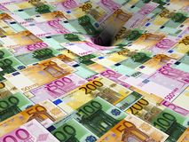 Money whirpool stock photography