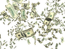 Money on white Royalty Free Stock Image