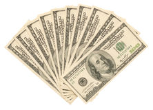 Money on the white Royalty Free Stock Photo