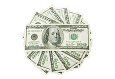 Money on  white Royalty Free Stock Photo