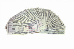 Money on a white background Royalty Free Stock Photo
