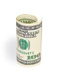 Money on white background. Macro Royalty Free Stock Photography