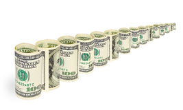 Money on white background Royalty Free Stock Photos