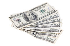 Money on a white background Stock Images