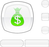 Money white button. Royalty Free Stock Photos