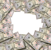 Money on White Floor with Blank Area Stock Photos