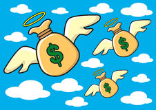 Money wings Royalty Free Stock Images