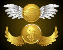 Money with wings Stock Photography