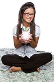 Money Woman Royalty Free Stock Photo