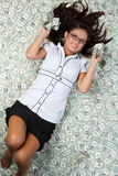 Money Woman Royalty Free Stock Images