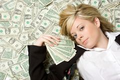 Money Woman Stock Photos