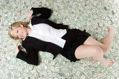 Money Woman Stock Image