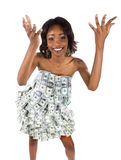 Money woman Royalty Free Stock Photos
