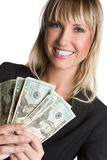 Money Woman Smiling Stock Photo