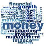 Money word cloud Royalty Free Stock Photography
