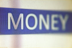 MONEY Word Royalty Free Stock Photography