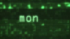 Money word text typing writing on old glitch computer lcd led tube tv screen display background blinking animation New. Word text typing writing on old computer stock illustration
